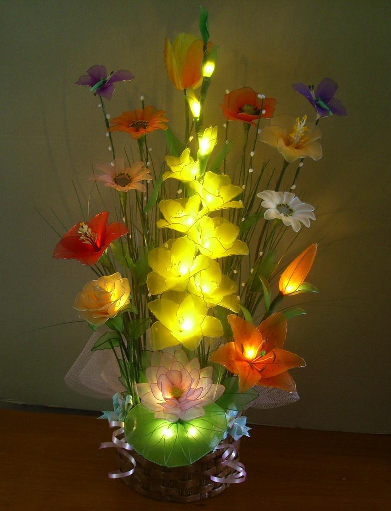 Fleurs lumineuses for Bouquet de fleurs lumineux