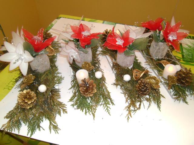 Décorations de table de Noël, par Noelle | Fleurs de Siam et d ...